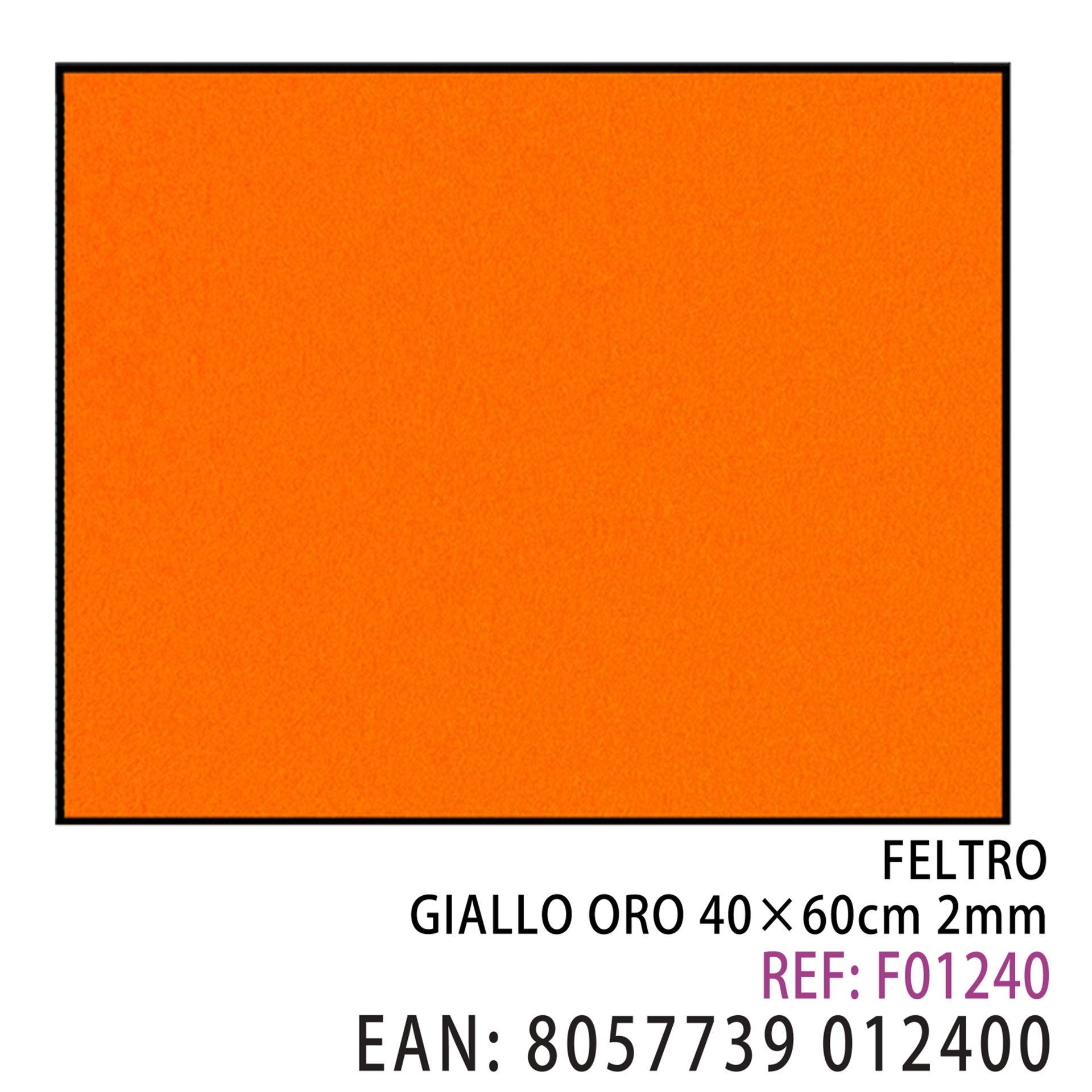 FELTRO GIALLO ORO  40 X 60CM X 2MMDz
