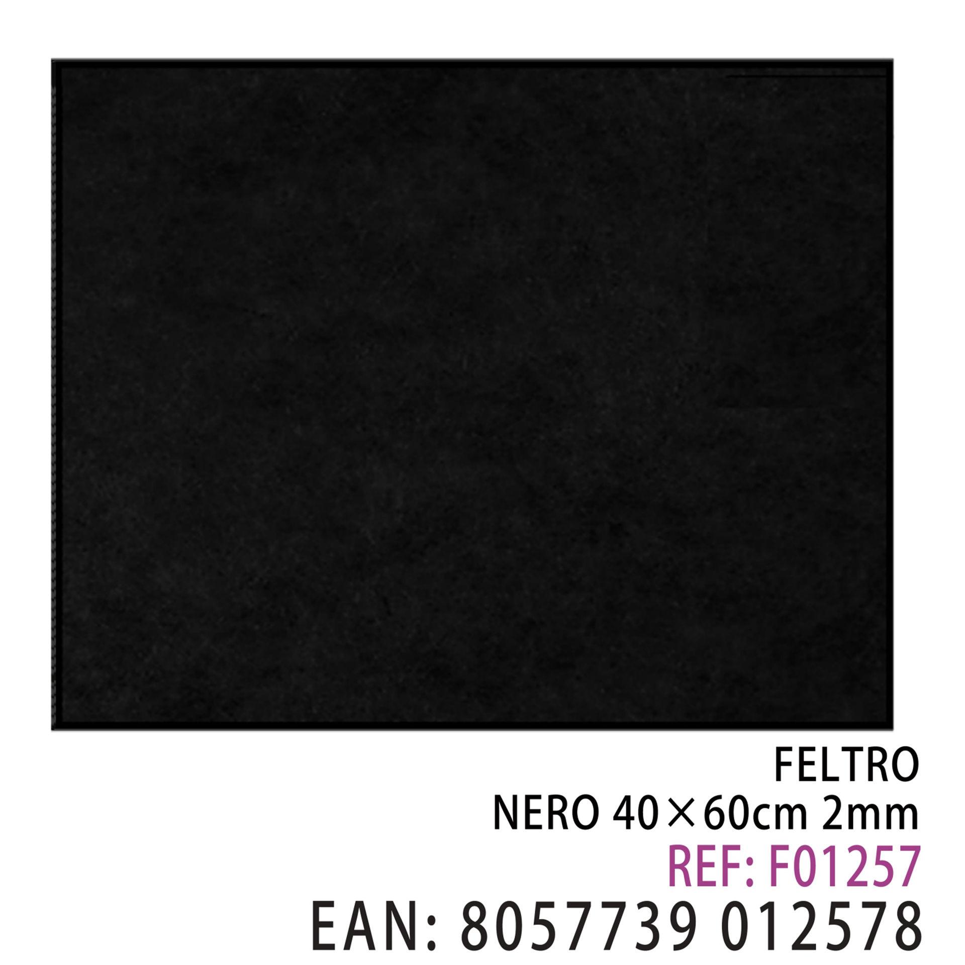FELTRO NERO  40 X 60CM X 2MMDz