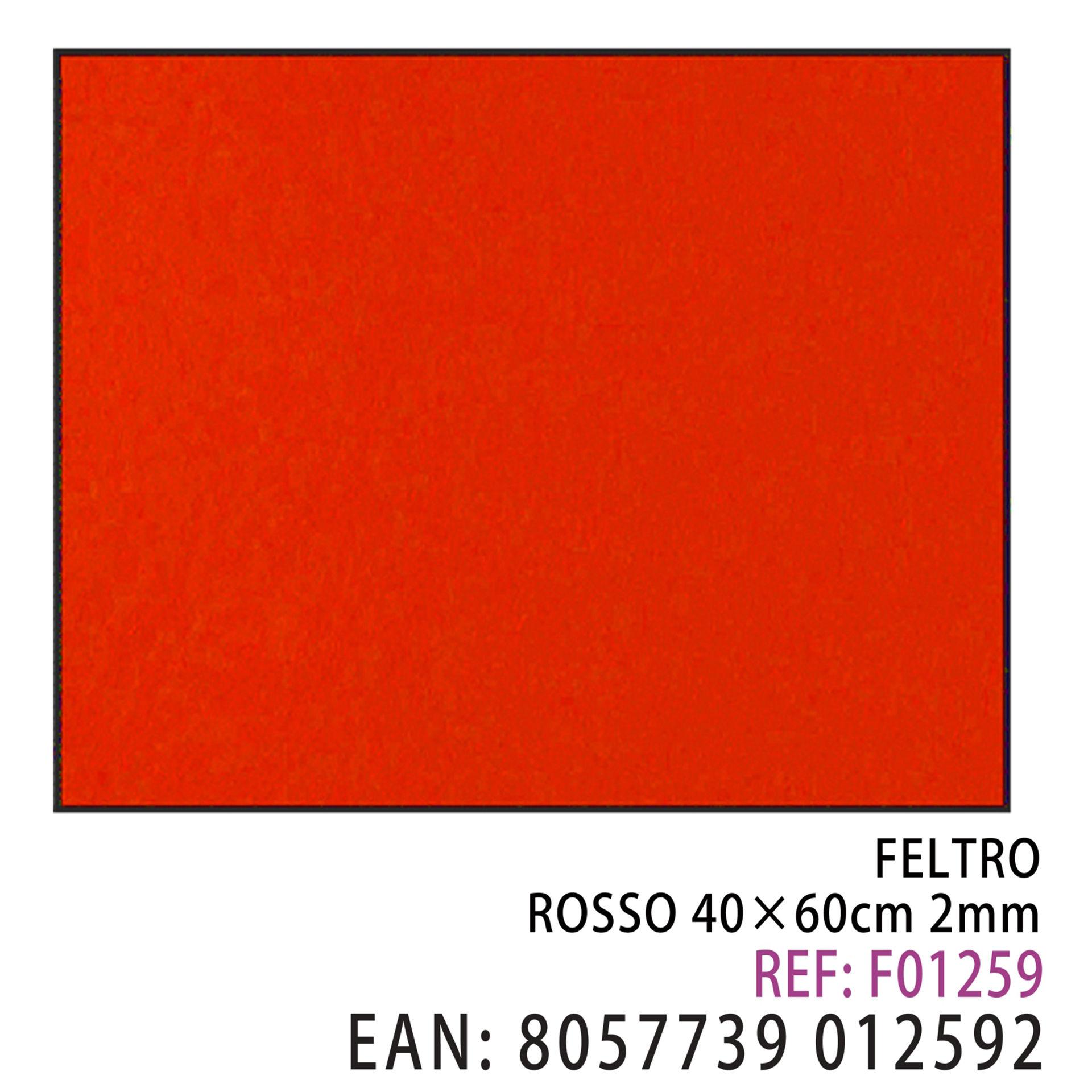 FELTRO ROSSO  40 X 60CM X 2MMDz