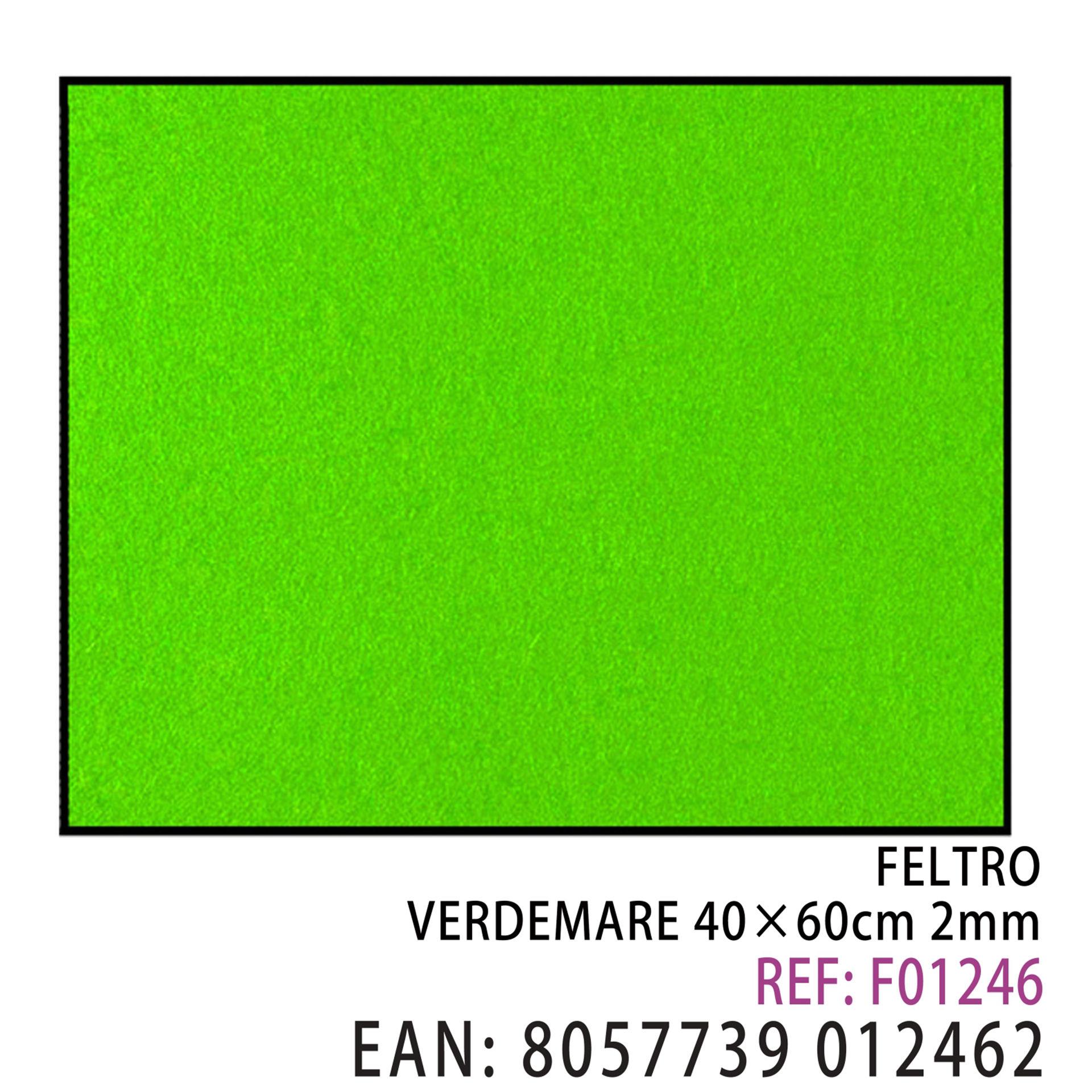 FELTRO VERDE MARE  40 X 60CM X 2MMDz