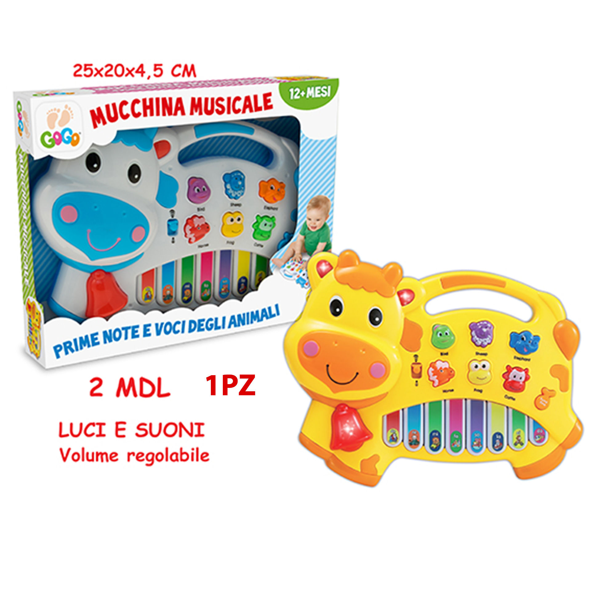 GOGO - PIANOLA MUSICALE MUCCA 2 ASSTeorema