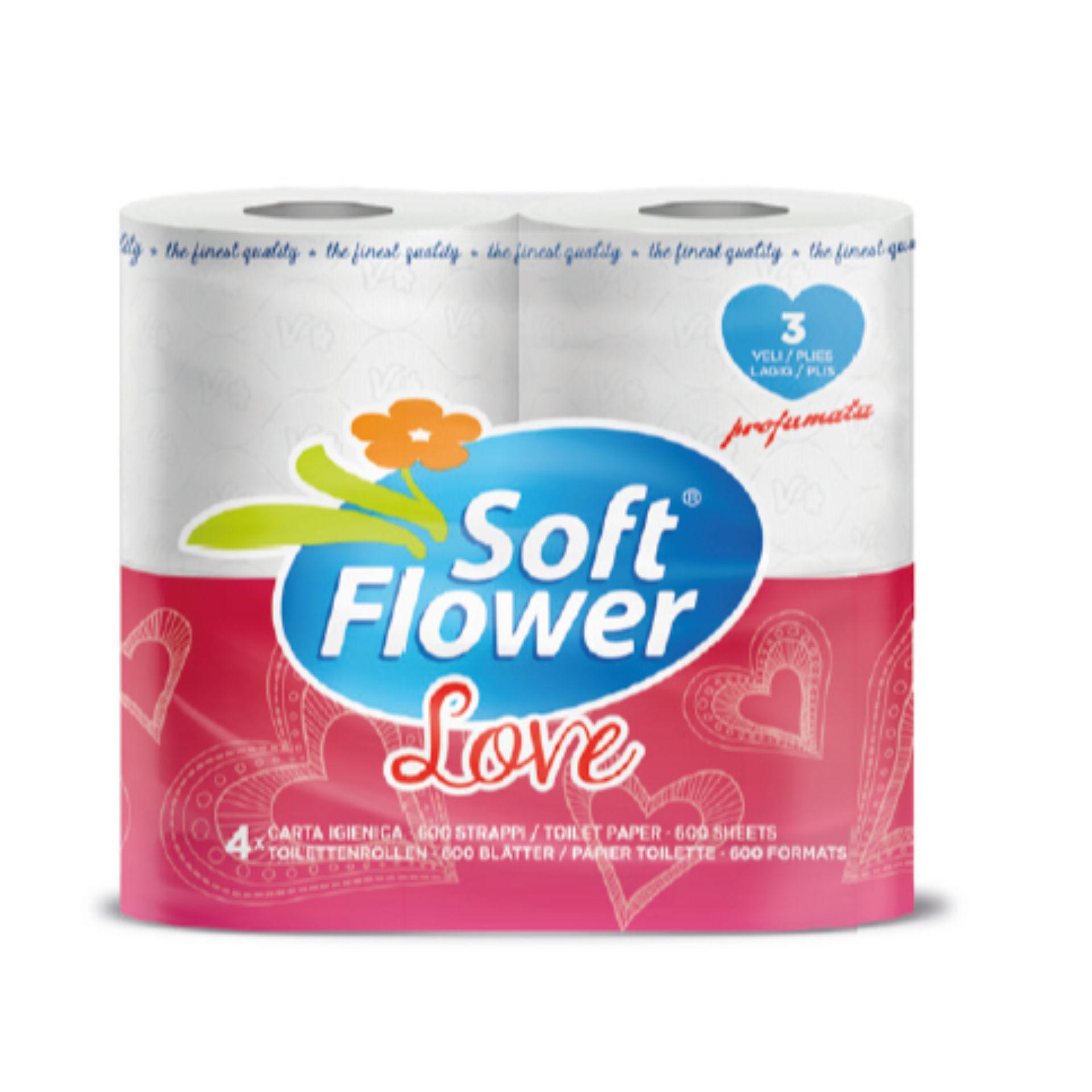 IGIENICA 4 ROTOLI 3 VELI  EXTRASOFT  SOFT FLOWER L