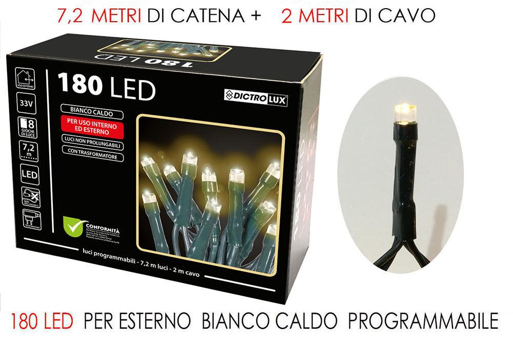 180 LUCI LED BIANCO CALDO X EST. PROHappy Casa