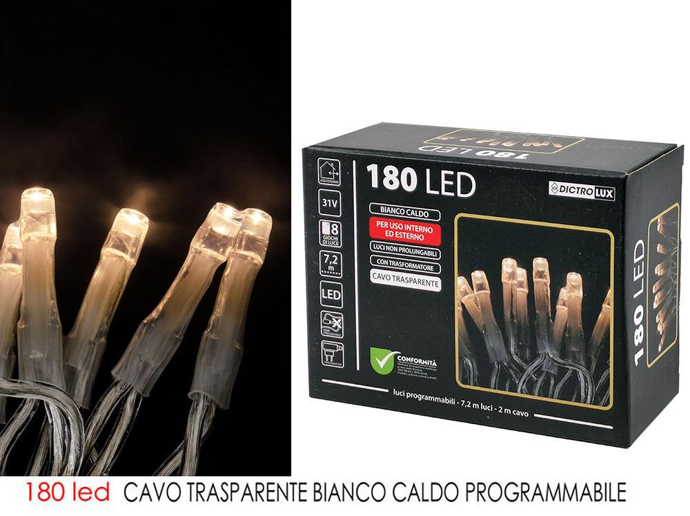 180 LED B.CALDO X EST CAVO TRASP.  PROG.Happy Casa
