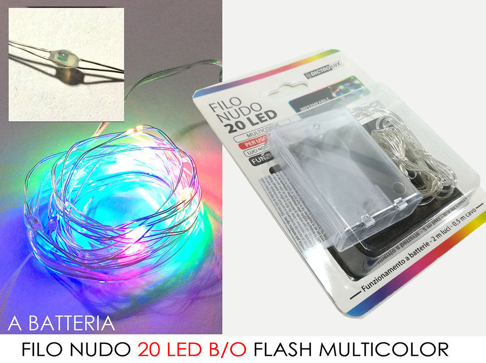 -FILO NUDO 20 LED B/O FLASH MULTICOLORHappy Casa