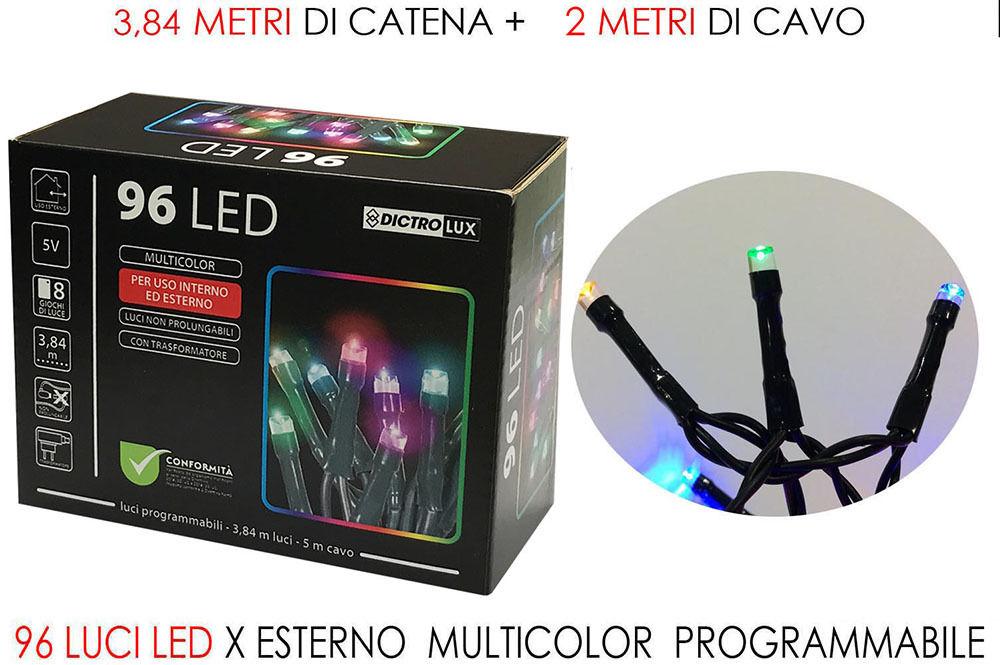 96 LUCI LED MULTICOLOR X ESTERNO PRHappy Casa