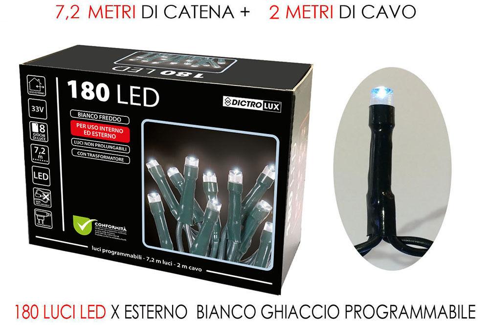 180 LUCI LED BIANCO GHIACCIO X EST. PROGHappy Casa