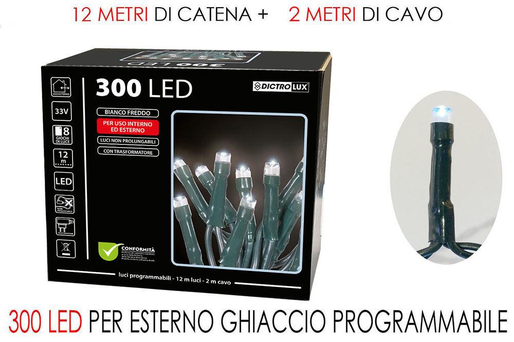300 LUCI LED BIANCO GHIACCIO X EST.  PRHappy Casa