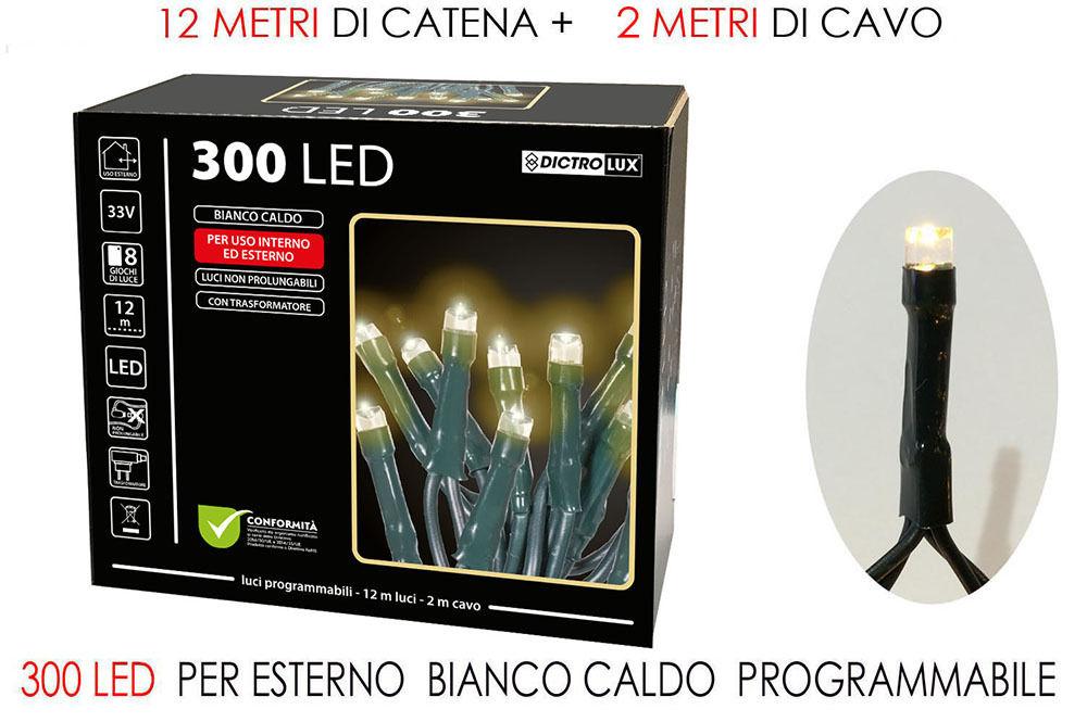 300 LUCI LED BIANCO CALDO X EST. PROG.Happy Casa