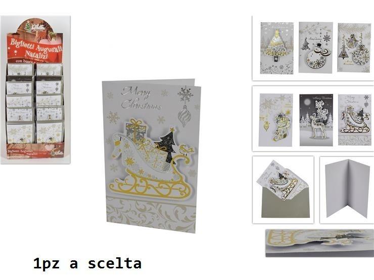 BIGLIETTO AUGURI NATALIZIO 3D C/BUSTA 8.5X13.5 ASSDue Esse