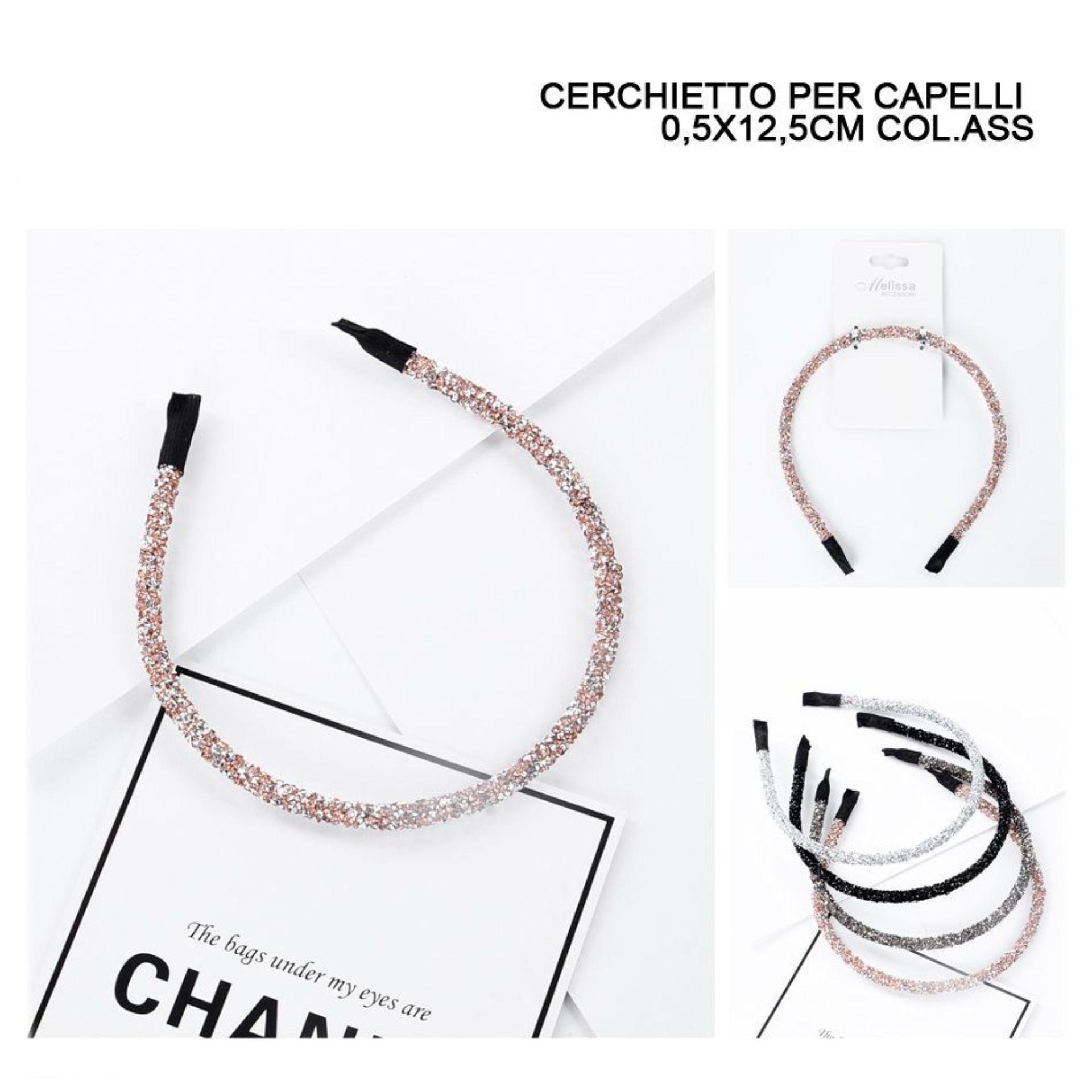 CERCHIETTO CAPELLI 0,5X12,5CM ASS.Melissa