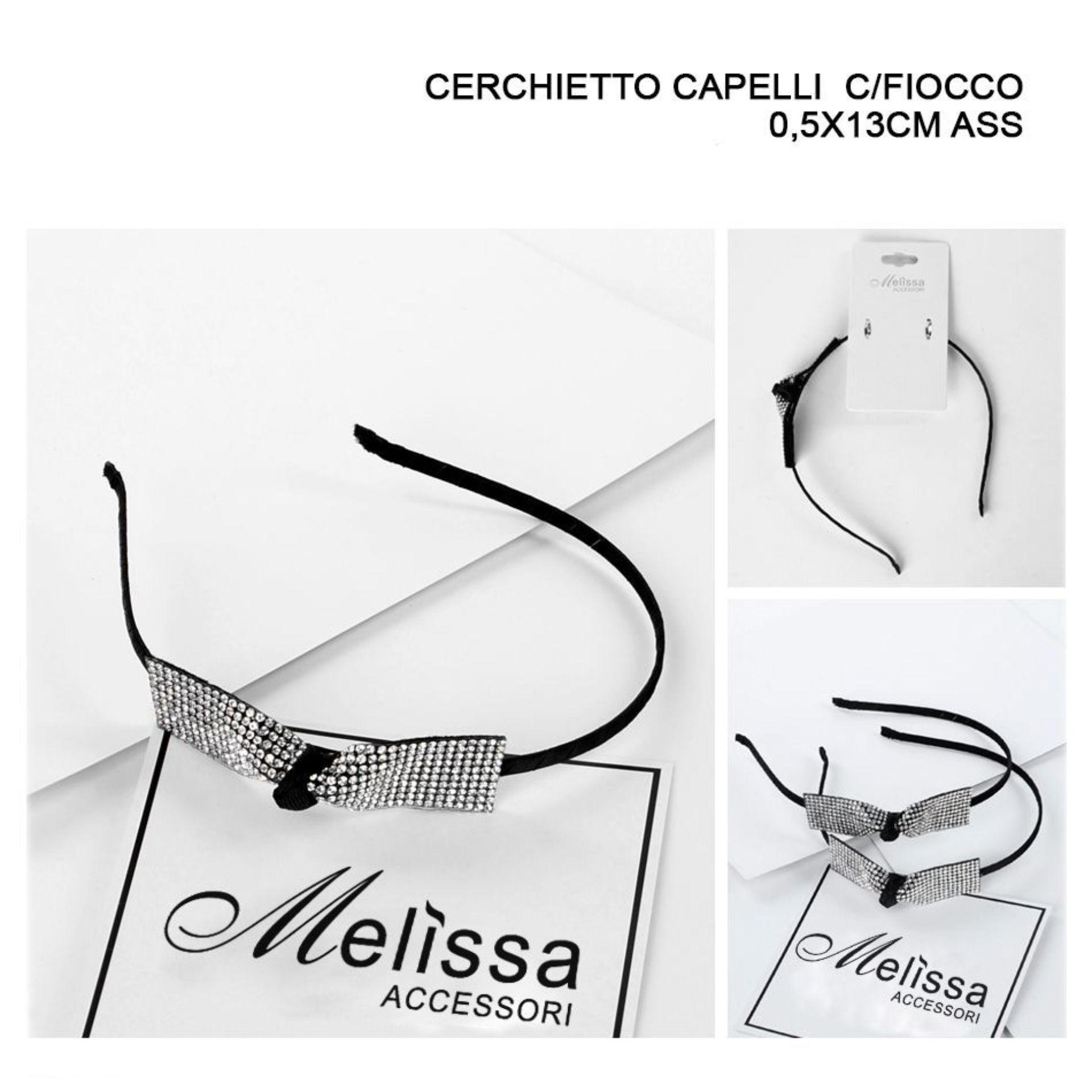 CERCHIETTO CAPELLI  C/FIOCCO 0,5X13CM ASSMelissa
