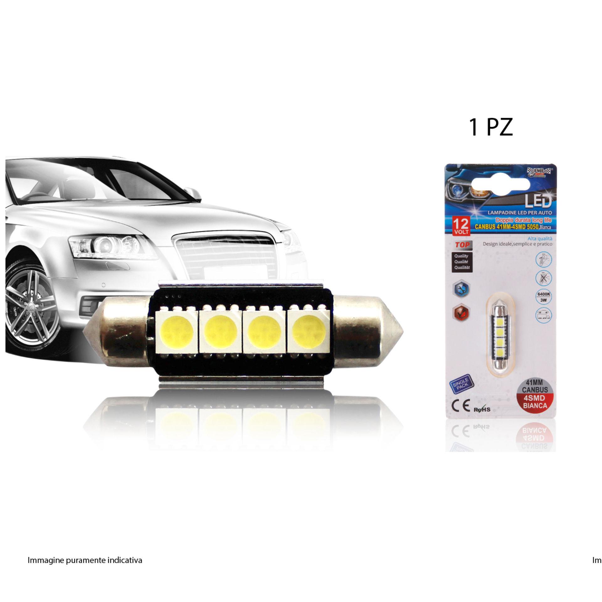 LAMPADINE LED PER AUTO 1PCS 41MMEmi Style